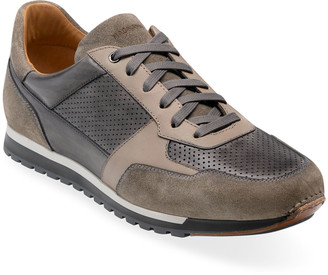 Magnanni Men's Nando Suede/Leather Trainer Sneakers