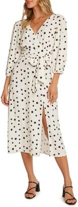 Willow Dede Polka Dot Midi Dress