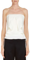 Roland Mouret Strapless Ruffled Bustier Top
