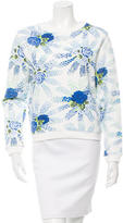 MSGM Floral Print Long Sleeve Top
