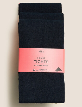 Marks and Spencer 3 Pairs of School Tights (2-14 Years)