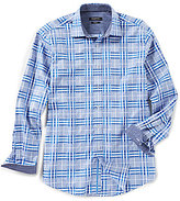 Bugatchi Classic-Fit Plaid Long-Sleeve Woven Shirt