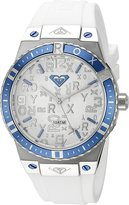 Roxy Women's RX/1005SVDB THE BLISS Blue and White Silicone Strap Watch