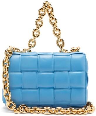 Bottega Veneta The Chain Cassette Intrecciato Padded Leather Bag - Blue
