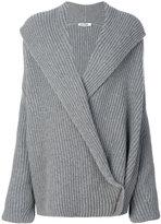 Jil Sander wrap knitted sweater