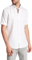 Lindbergh Linen Blend Short Sleeve Shirt