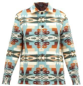 Pendleton Walking Rock Wool-blend Jacket - Womens - Blue Multi