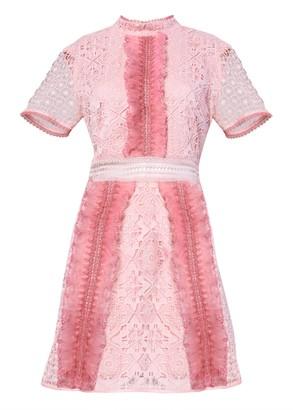 True Decadence Blush Pink Two Tone Lace Mine Dress