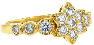 Van Cleef & Arpels 2000s Pre-Owned Yellow Gold Star Diamond Ring