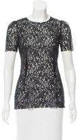 Dolce & Gabbana Short Sleeve Lace Top