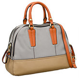 Oryany As Is Leslie Pebble Leather Triple Zip Satchel