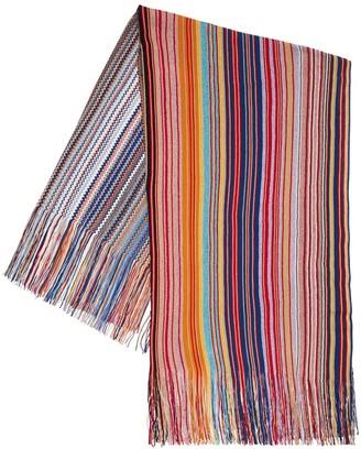 Missoni Fringed Lurex & Wool Multicolor Shawl