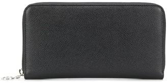Bvlgari Textured Zip Round Wallet