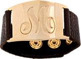 Lisa Stewart Serenity Bracelet with Engraved Goldtone Intitial