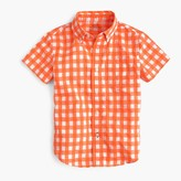 J.Crew Kids' short-sleeve Secret Wash shirt in neon gingham