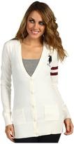 U.S. Polo Assn. Long Sleeve Varsity Cardigan (Frosty Vanilla) - Apparel