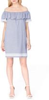 Tahari Ruffle Shift Dress