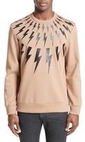 Neil Barrett Men's Fair Isle Thunderbolt Sweatshirt
