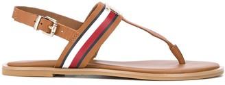 Tommy Hilfiger Logo-Plaque Ankle Sandals