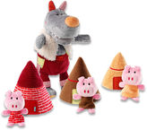 Haba Wolf Hand Puppet 3 Little Pigs Set
