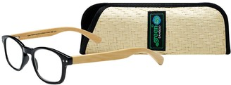 Select A Vision SAV Eyewear (Select-A-Vision) Bamboo Eco Friendly Round Reading Glasses 2550 Black 2.50