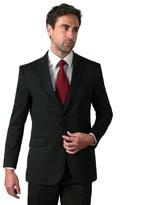 Karl Jackson Black Stripe Regular Fit 2 Button Jacket
