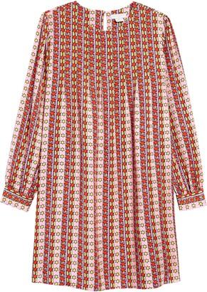 Stella McCartney Rising Stars Print Long Sleeve Dress