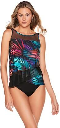 Miraclesuit Mystical Palms Mirage Tankini Top (Jungle) Women's Swimwear