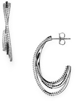 Nadri Triple Hoop Earrings