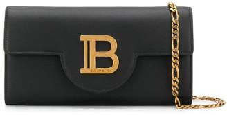 Balmain B logo clutch