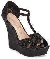 Women's Lauren Lorraine Ness Crystal Embellished Wedge Sandal