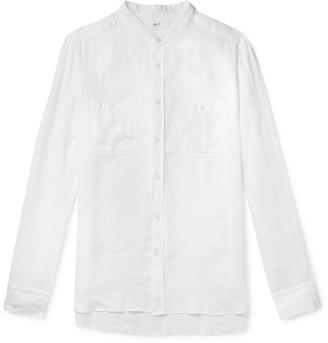 Mr P. Grandad-Collar Linen Shirt