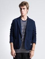 "Bedwin&the Heartbreakers Bedwin & The Heartbreakers Navy 2B Wool ""Michael"" Blazer Jacket"