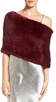Dena Women's Genuine Rabbit Fur Capelet