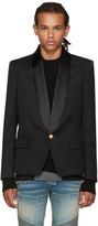 Balmain Black Single-button Shawl Blazer