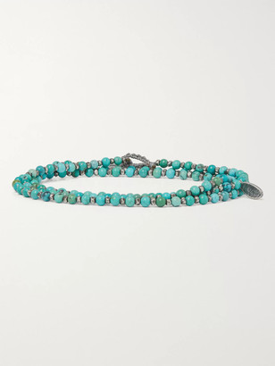 M. Cohen Sterling Silver And Turquoise Beaded Wrap Bracelet