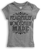 Urban Smalls Heather Gray 'Wonderfully Made' Fitted Tee - Toddler & Girls