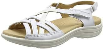 Hotter Women's Maisie Open-Toe Sandals, White, 35.5 EU