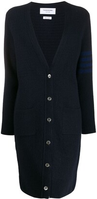 Thom Browne Long-Line Knitted Cardigan
