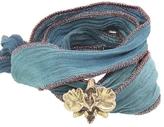 Catherine Michiels Wild Orchid Bronze Charm & Silk Bracelet Wrap
