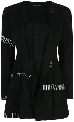 Yohji Yamamoto corseted layer blazer