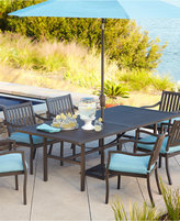 """Holden Outdoor Aluminum 9-Pc. Dining Set (64"""" Square Dining Table and 8 Dining Chairs)"""