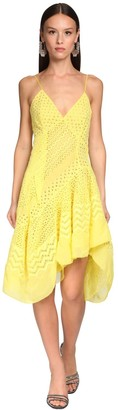 Ermanno Scervino Cotton Eyelet Lace Dress