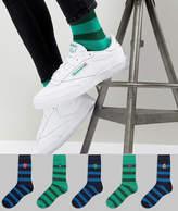 Asos DESIGN Socks With Monster Stripe Design 5 Pack