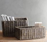 Pottery Barn Samantha Baskets, Gray