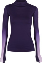 Nike Pro Hyperwarm Ombré Dri-fit Stretch-jersey Top - Purple