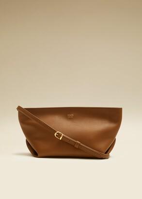 KHAITE The Adeline Crossbody Bag in Caramel Leather