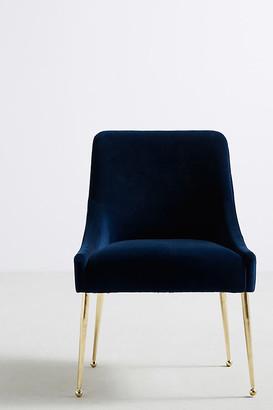 Anthropologie Velvet Elowen Chair By in Blue Size ALL
