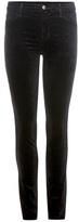 J Brand Mid-rise Super Skinny Velvet Trousers