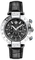 Versace Reve Black Dial Watch, 46mm